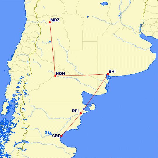 Vuelos de LADE Bahía Blanca Patagonia Neuquen Mendoza