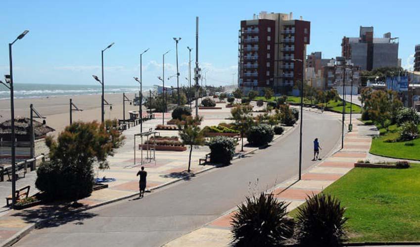 Vista de la costanera de Monte Hermoso.